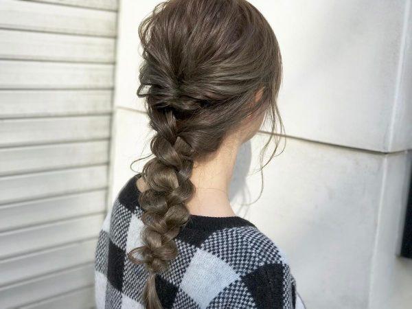 50代の和装に似合う髪型《ロング》3