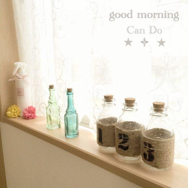 麻紐と小瓶で簡単おしゃれな窓際DIY