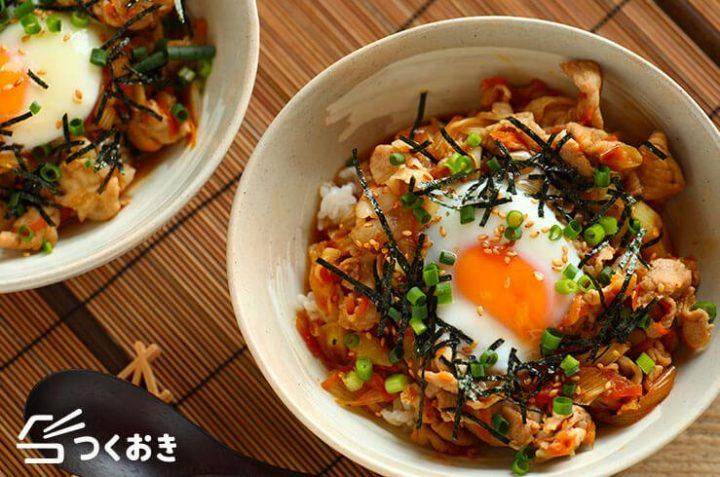 夏のボリュームレシピ!旨辛焼肉丼