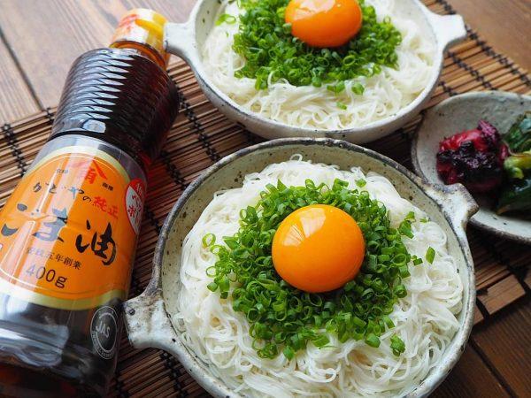 シンプルで簡単冷たい麺レシピ!ごま油素麺
