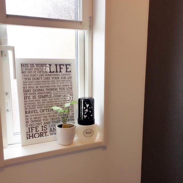 トイレの小窓にぴったりのおしゃれなボード