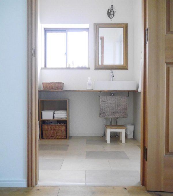 オープンな洗面台3