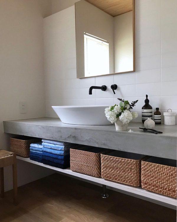 オープンな洗面台8
