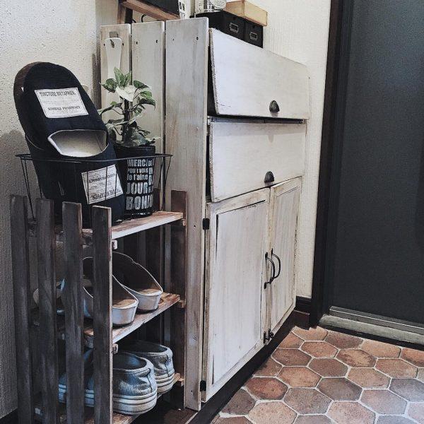 賃貸の靴箱DIY12