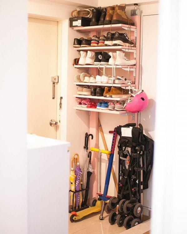 賃貸の靴箱DIY18