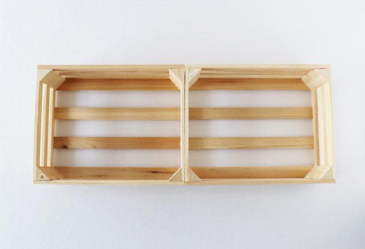 セリア 持ち手付きウッドボックス DIY4