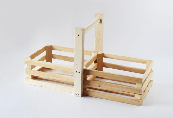 セリア 持ち手付きウッドボックス DIY7