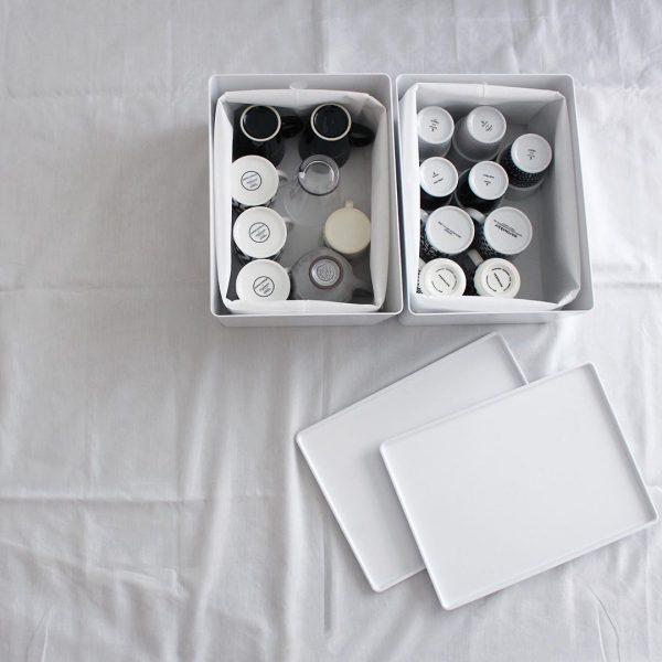 IKEAで人気のフタ付き収納ボックス