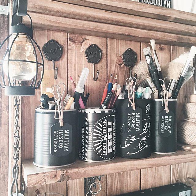 転写シールで簡単おしゃれリメ缶DIY
