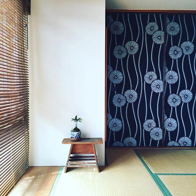 モダンな和室にするなら柄と白の壁紙の内装