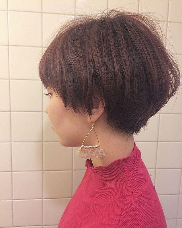 ショートヘアに合う秋の髪色5