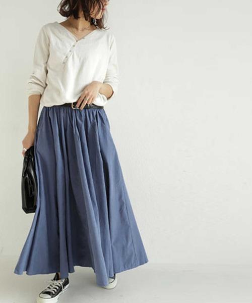 [antiqua] 大人ガーリーを着こなす法則。『スカートのトレンドは新時代へ。』デザインスカート