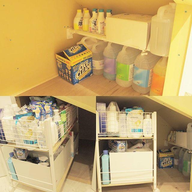 階段下スペースを活かす!日用品ストック収納