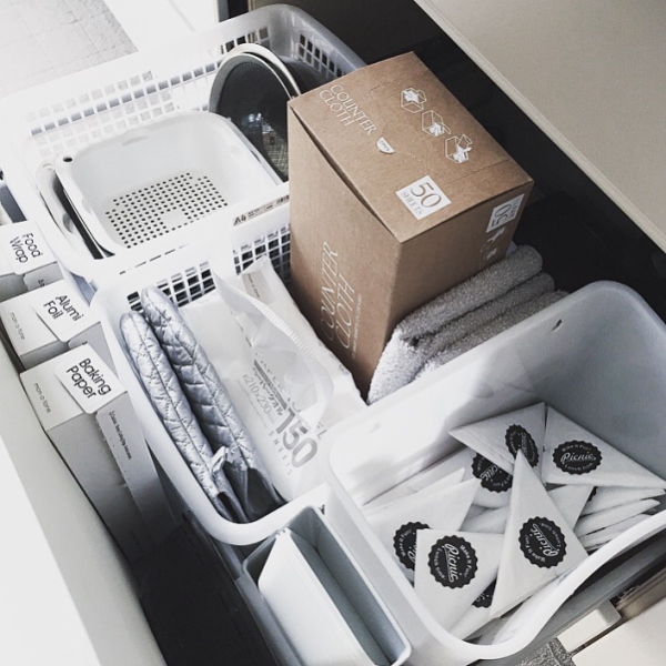 レジ袋をボックスに収納