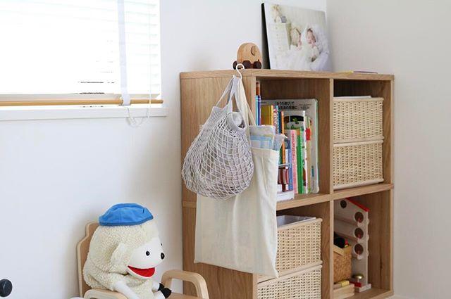 ネットバッグにおもちゃを収納3
