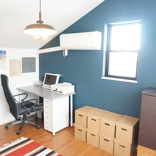 書斎のレイアウト実例《カラーリング》2