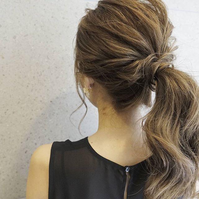 自分でできる結婚式の髪型2