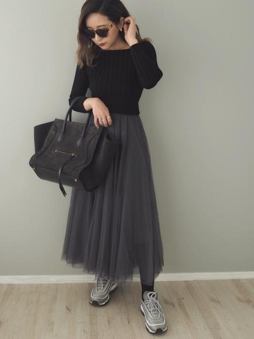 福岡 10月 服装 スカート7