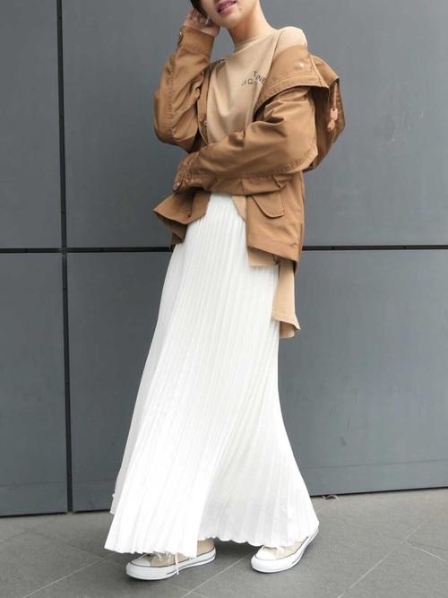 福岡 10月 服装 スカート