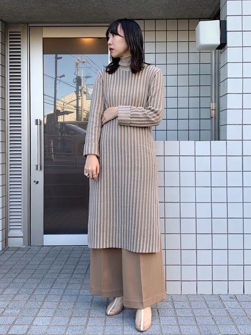 [UNITED TOKYO] ワンタックワイドパンツ
