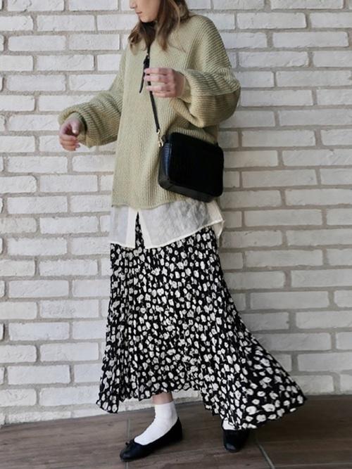 福岡 10月 服装 スカート9