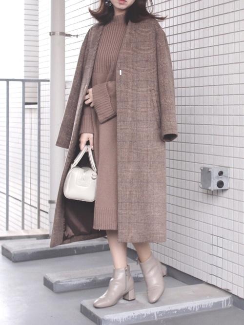 11月の東京で着たい服装 ワンピーススタイル5