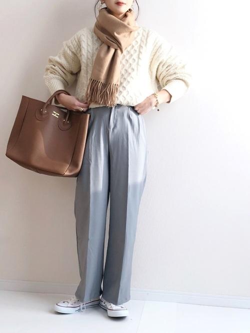 11月の東京で着たい服装 パンツスタイル7