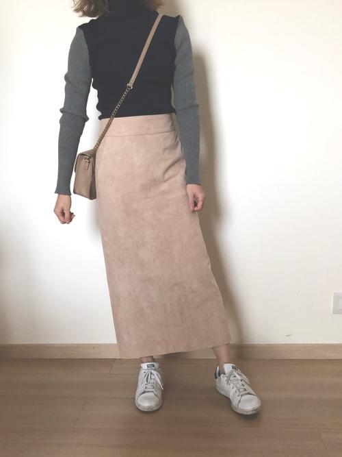 [URBAN RESEARCH] フェイクスエードカラーロングスカート