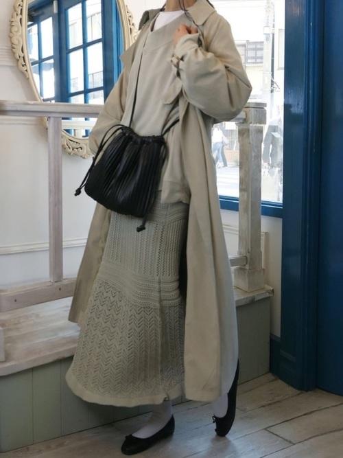 [CORNERS] 透かし編み裾フリルスカート