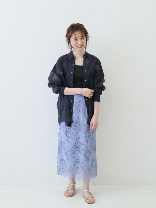 [Spick & Span] シアールーズウェスタンシャツ◆