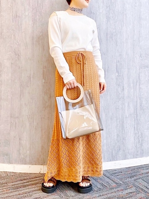 [mysty woman] シフォンアソート細スカーフ 879665