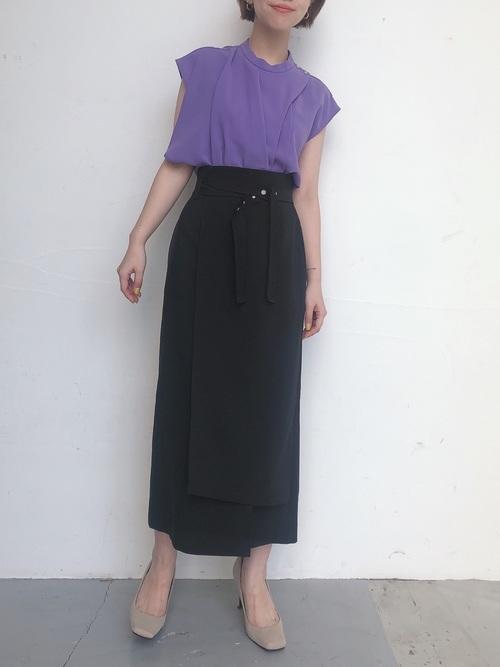 [UNITED TOKYO] ラップタイト ロングスカート /ラップスカート