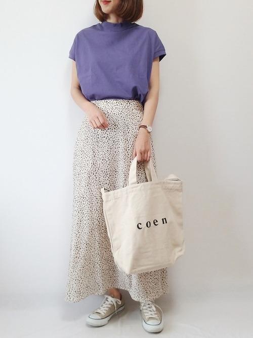 [coen] 【復刻・WEB限定カラー】USAコットンハイネックTシャツ#(モックネック)