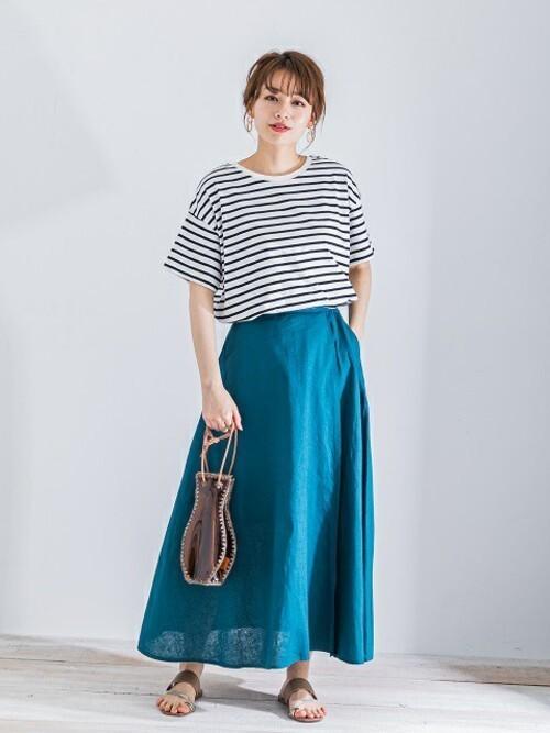 [URBAN RESEARCH] リネンAラインカラースカート