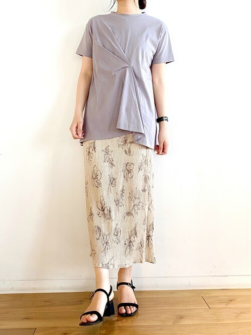 [Ambre Neige] デザインタックTシャツ/【WEB/EC限定商品】