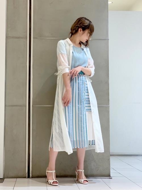 [LOVELESS] はっ水シアーシャツドレス