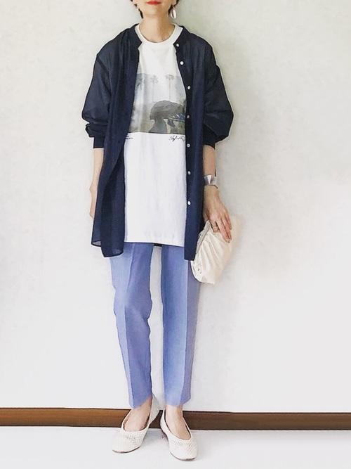 ユニクロ トップス 大人ファッション5