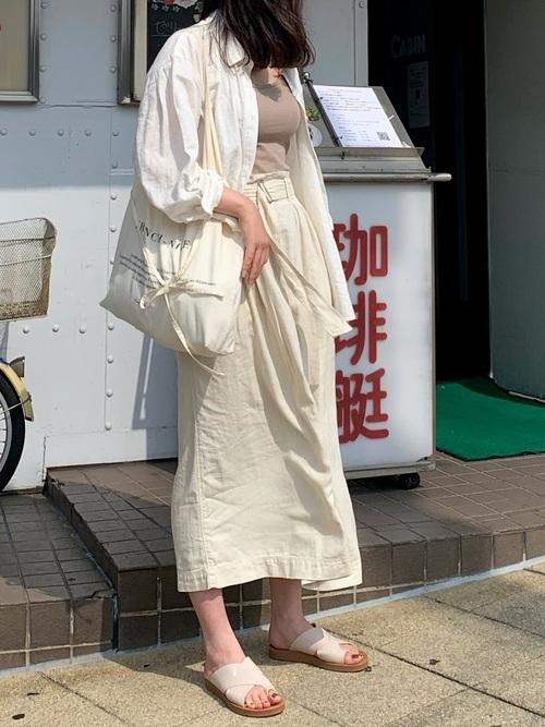 ユニクロ スカート 大人ファッション