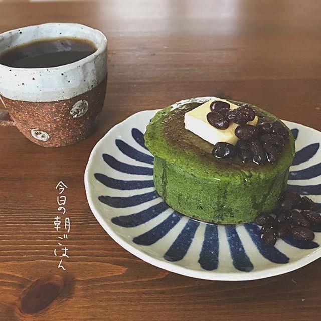 人気の洋菓子レシピ!厚焼き抹茶パンケーキ