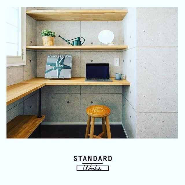 書斎のレイアウト実例《机の形》2