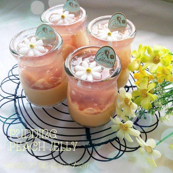 ひんやりスイーツレシピ!桃のジュレプリン