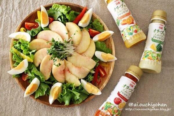 簡単食事系桃レシピ!桃サラダ