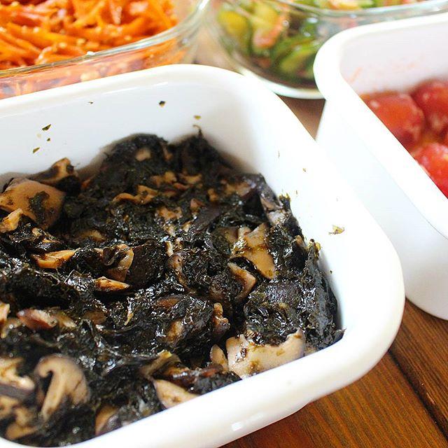 きのこの常備菜に!人気のしいたけ海苔佃煮