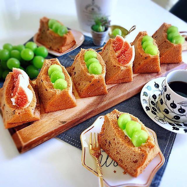 簡単な作り方!シフォンケーキのフルーツサンド