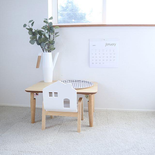シンプル家具が可愛い