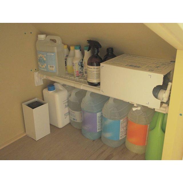 消耗品のストック収納《洗剤》3