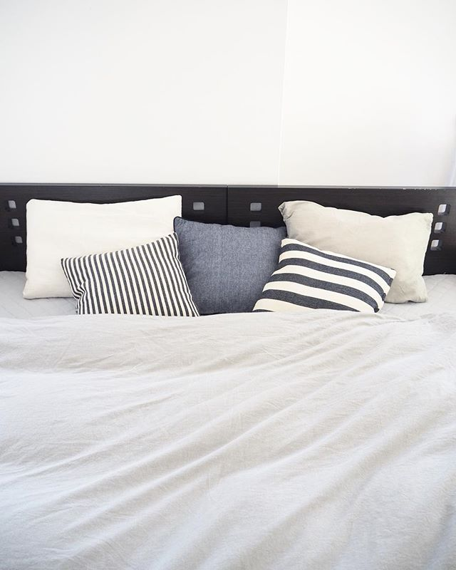 北欧寝室インテリア実例《モノトーン》2
