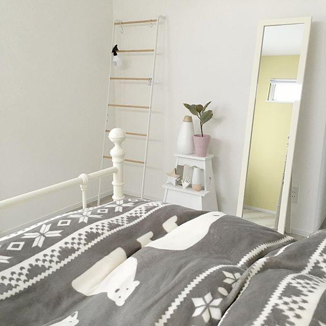 北欧寝室インテリア実例《寒色》2