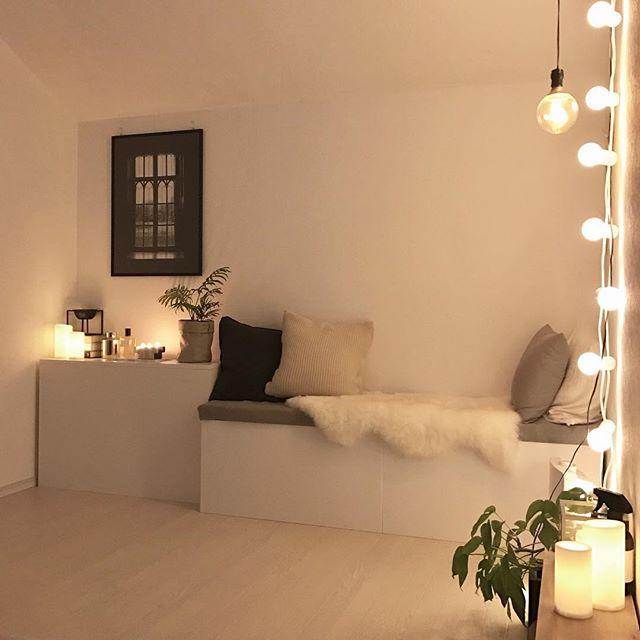 北欧寝室インテリア実例《モノトーン》3