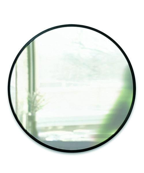 [entre square] Umbra/ハブ ミラー 61×61cm ブラック
